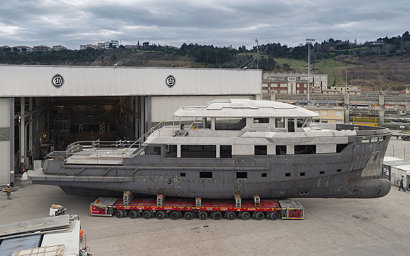 Project Aurelia 29 yacht in build in Ancona