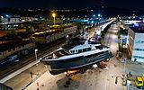 Archipelago yacht launch at CdM Ancona shipyard