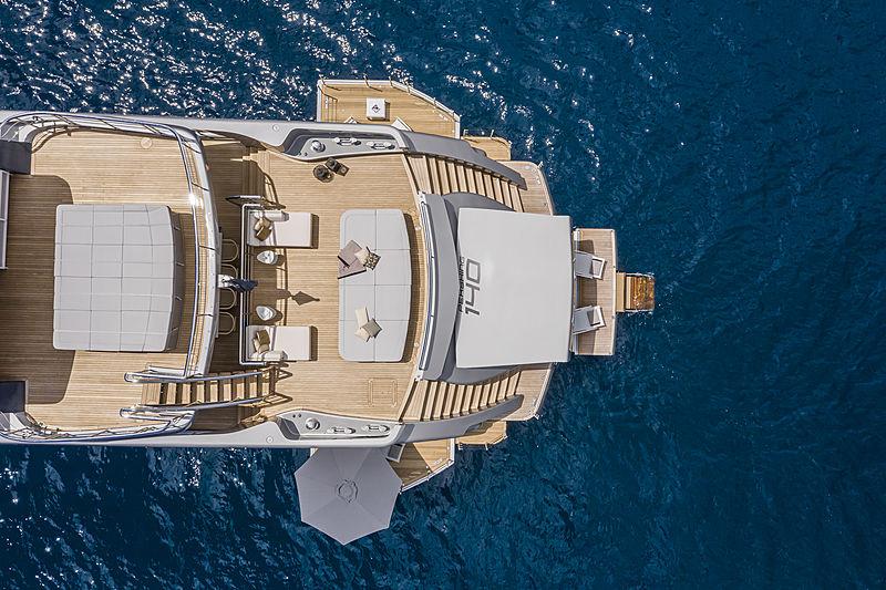 Chorusline yacht aft decks