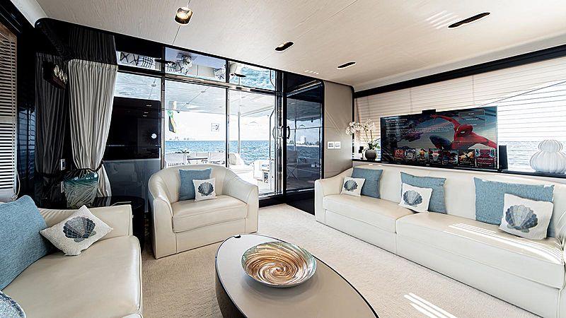 Temptation yacht saloon