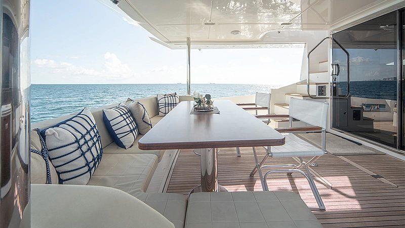 Temptation yacht aft deck