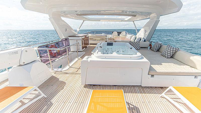 Temptation yacht sundeck