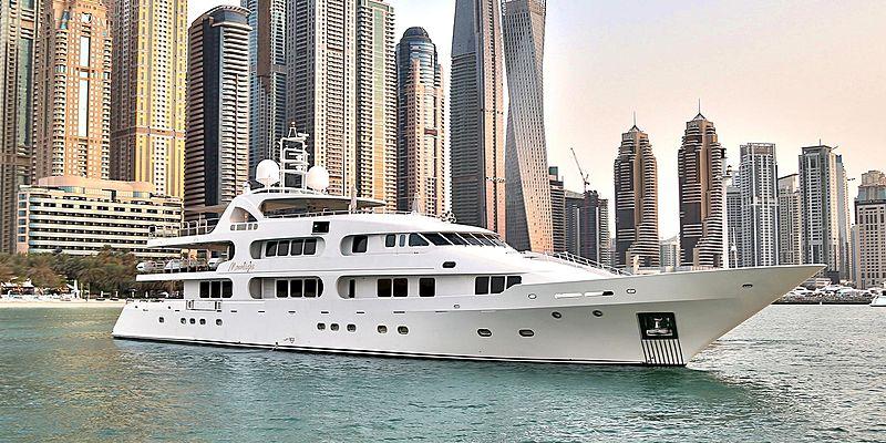 Moonlight yacht