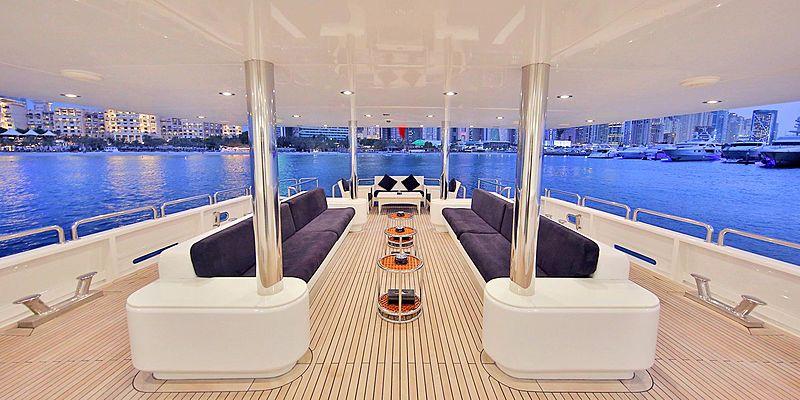 Moonlight yacht aft deck