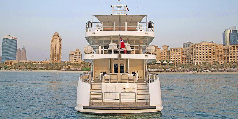 Moonlight yacht stern