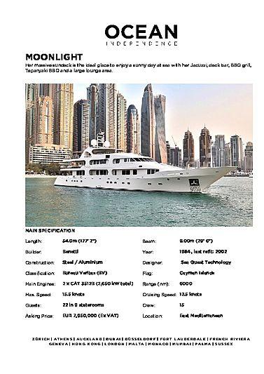 Moonlight yacht brochure