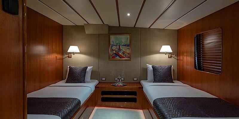Northern Sun yacht stateroom