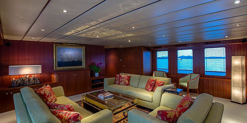 Northern Sun yacht saloon
