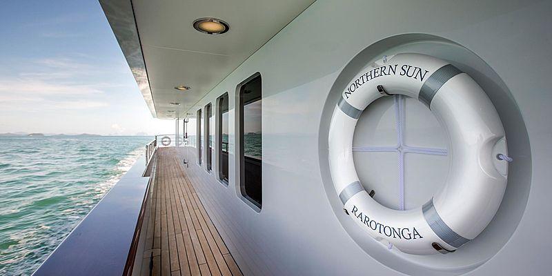 Northern Sun yacht deck