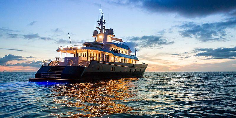 Northern Sun yacht at anchor
