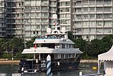 Ocean's Seven yacht in Singapore marina