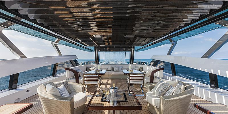 Polaris I yacht sundeck
