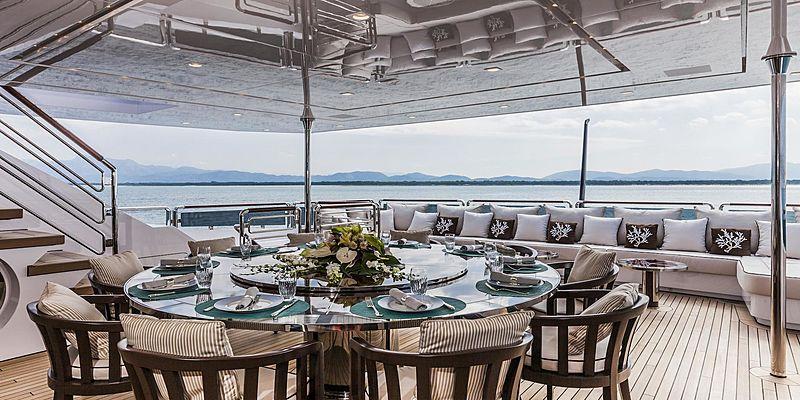 Polaris I yacht aft deck