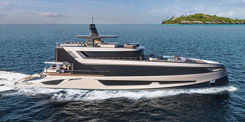 Gabriele Teruzzi Navetta 42 yacht concept