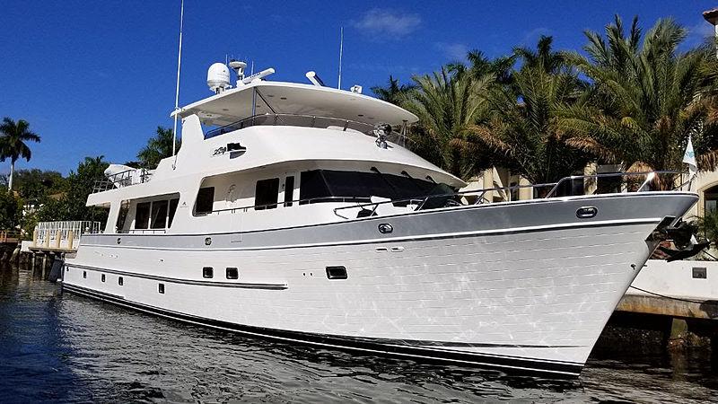 Argo yacht docked
