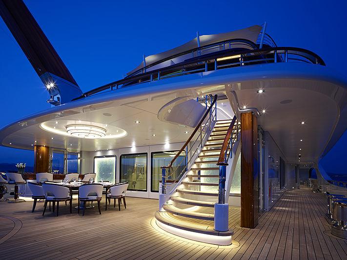 Tis yacht aft deck