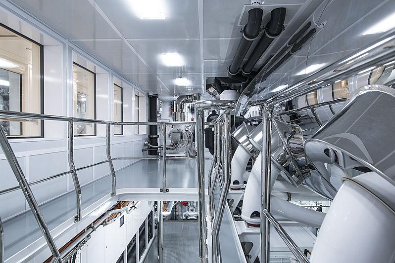 Tis yacht engine room