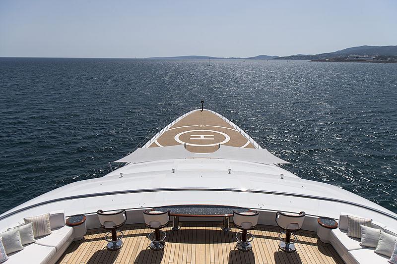 Tis yacht deck and helipad