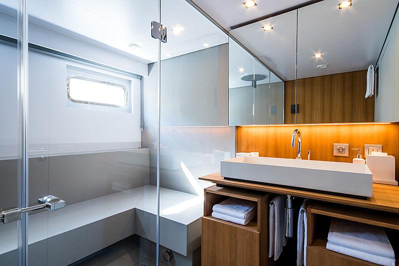 Wally Shadow yacht bathroom