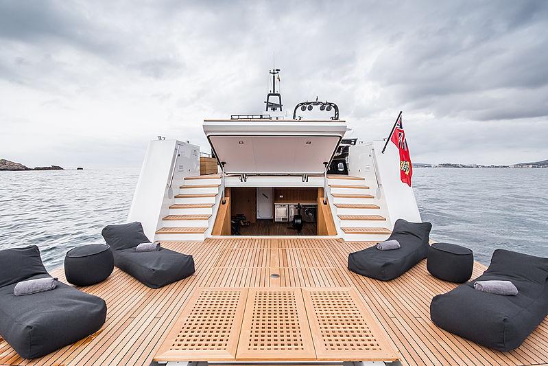 Wally Shadow yacht beach club