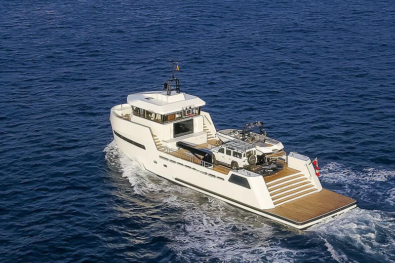 Wally Shadow yacht cruising