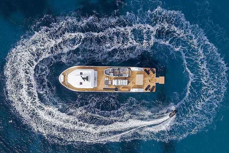Wally Shadow yacht at anchor
