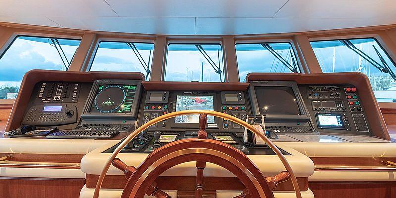 Andrea yacht wheelhouse