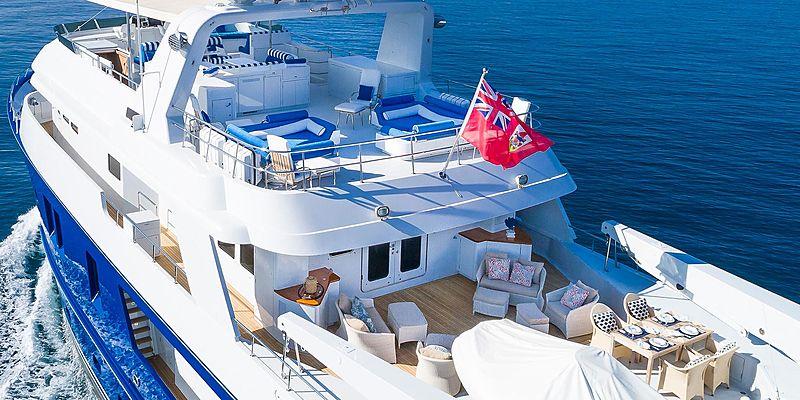 Andrea yacht aft deck