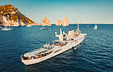 Christina O yacht in Capri, Italy