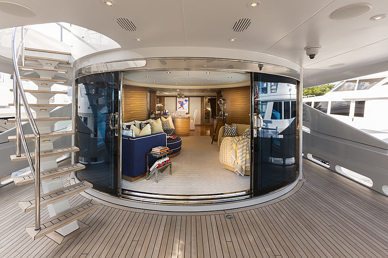Man Of Steel yacht aft deck