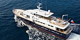 Paolyre yacht cruising aerial