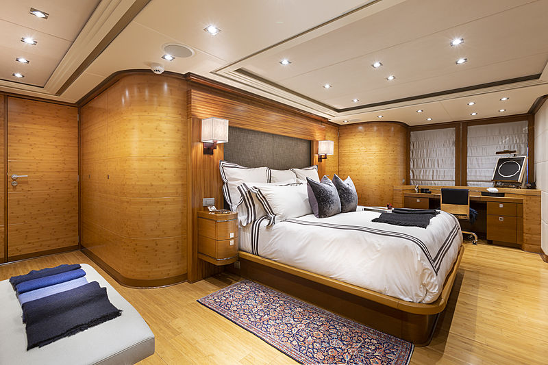 Man Of Steel yacht owner's cabin