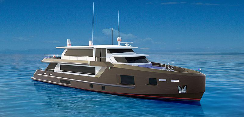 Bray Yacht Design 30m yacht Project Ocean Condo