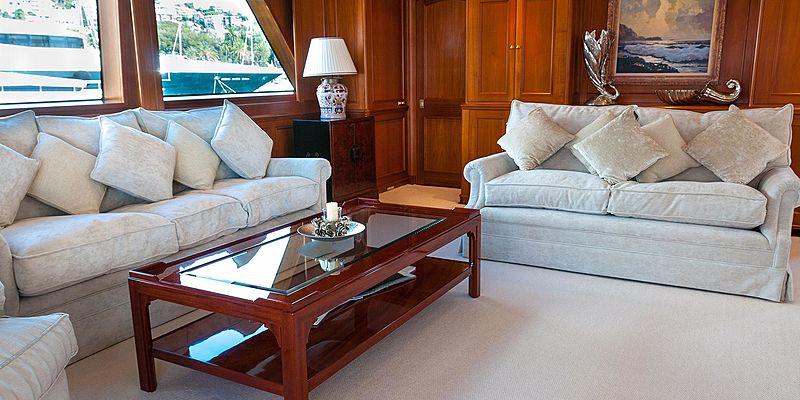 Cassiopeia yacht saloon
