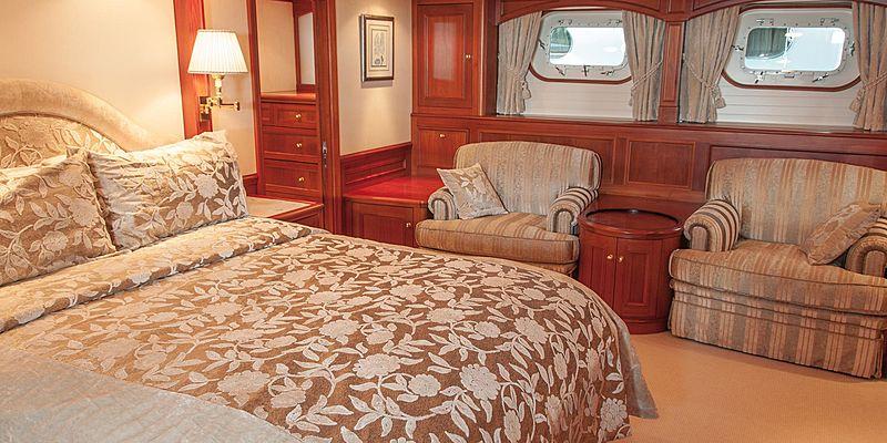 Cassiopeia yacht cabin
