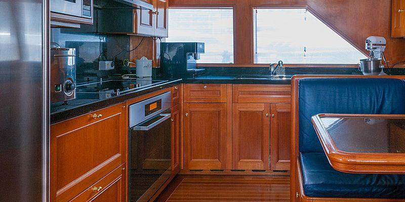Cassiopeia yacht kitchen