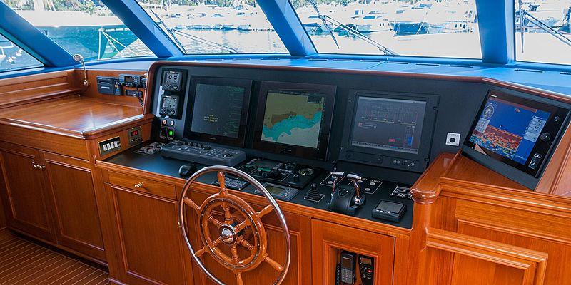 Cassiopeia yacht wheelhouse