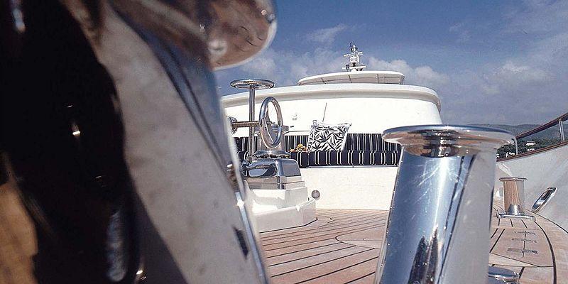 Cassiopeia yacht deck