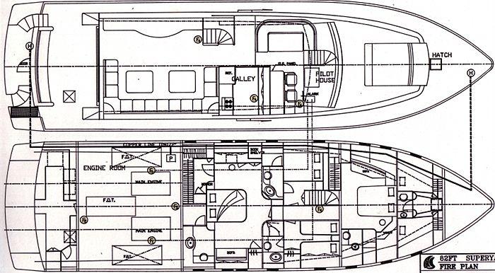Abou Maya yacht deck plan