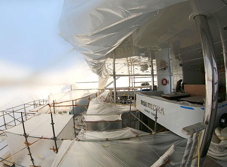 Boadicea yacht refit
