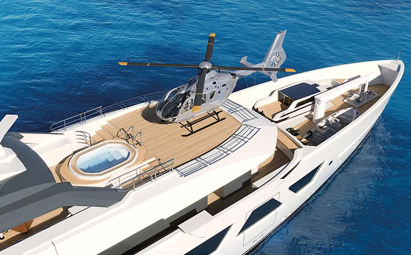Amels 60 yacht exterior design helipad