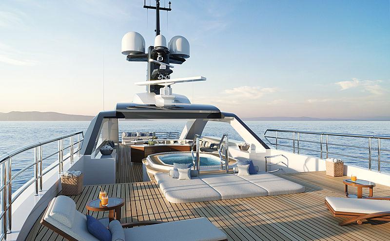 Amels 60 yacht exterior design top deck