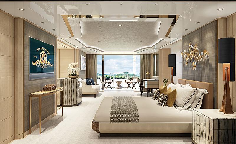 Amels 60 yacht interior design stateroom