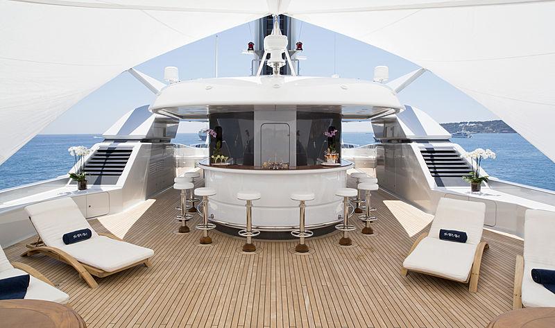 Sarah yacht deck