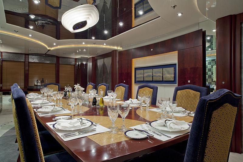 Sarah yacht dining