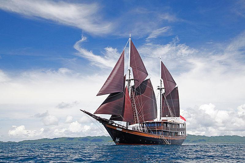 Dunia Baru yacht in Komodo, Indonesia