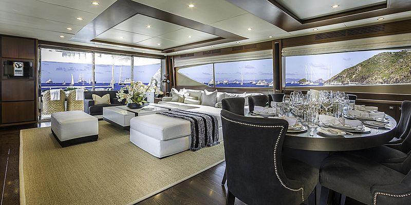 Cristobal yacht saloon