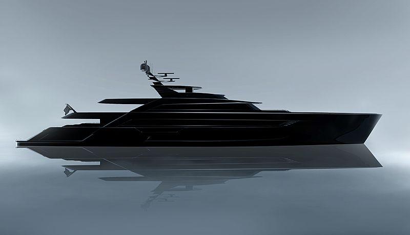 Al Waab II yacht profile rendering