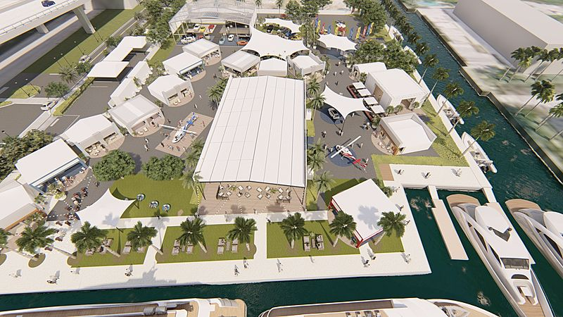 Superyacht Village at Fort Lauderdale International Boat Show 2019 renderings