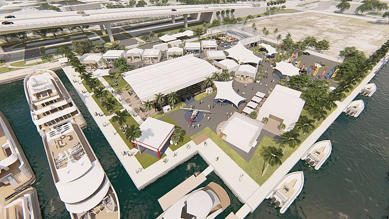 Superyacht Village at Fort Lauderdale International Boat Show 2019 renderings
